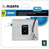 USBメモリー 32GB USB2.0 小型 ブラック OD6B TINY S 32GB BK RiDATA 在庫処価格 数量限定 メール便可=お届け日目安:発送後7-10日