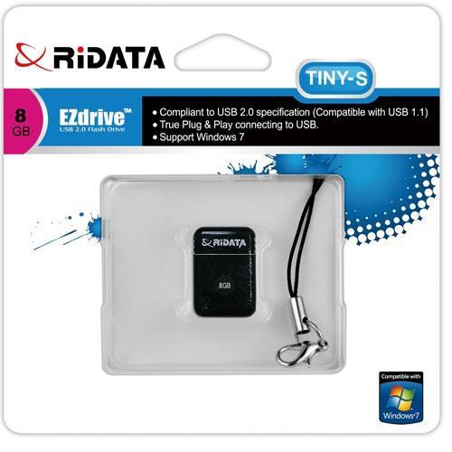 USBメモリー 8GB USB2.0 小型 ブラック OD6B TINY S 8GB BK RiDATA 在庫処分価格 数量限定特価 メール便可=お届け日目安:発送後7-10日