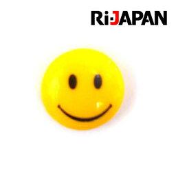 イヤホンジャック専用アクセサリー スマイル イエロー RIPP-012YL RiJAPAN【メール便OK(ポスト投函)】