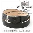 ホワイトハウスコックス フレンチカーフベルト B1859/30mmブラック【Whitehouse Cox/ホ...