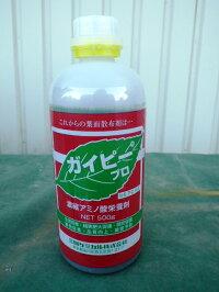 [送料無料][肥料]【ガイピープロ】500g=6本アミノ酸、核酸、有機酸、糖などを配合した新しいアミノ酸液肥葉面散布剤です。