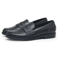 ローファー 防水 学生靴 ペニーローファー レディース レインローファー 黒 ブラック レディースローファー 通勤 通学 靴