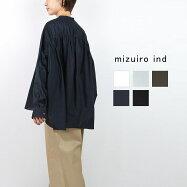 mizuiro ind ミズイロインド スタンドカラーワイドギャザーシャツ  1-238158
