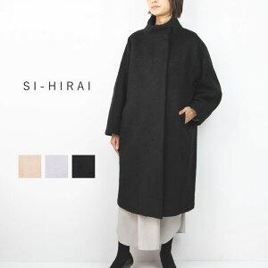 SI-HIRAI スーヒライBULGE SLEEB COAT CHAW19-4023LGハイネック モヘアシャギーコートロングコート ウールアウター ラグランスリーブ全3色 38/M 冬