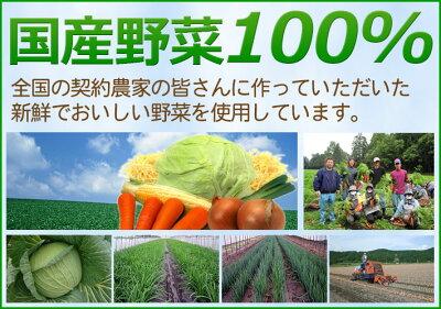 国産野菜100パーセント
