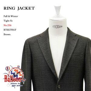 RINGJACKET(リングヂャケット)ModelNo-236BALLOON3Bバルーンジャケット【ブラウン】