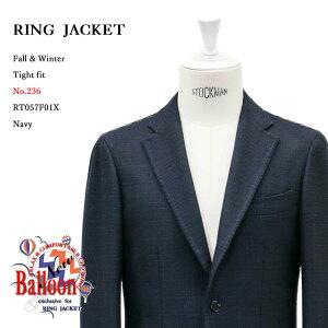 RINGJACKET(リングヂャケット)ModelNo-236BALLOON3Bバルーンジャケット【ネイビー】
