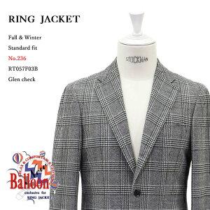RINGJACKET(リングヂャケット)ModelNo-236BALLOON3Bバルーンジャケット【グレンチェック】