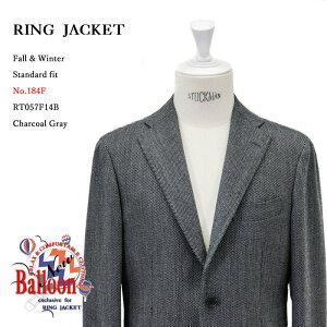 RINGJACKET(リングヂャケット)ModelNo-184FBALLOON3Bバルーンジャケット【チャコールグレー】