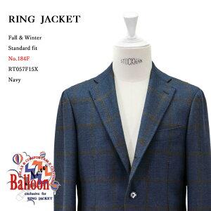 RINGJACKET(リングヂャケット)ModelNo-184FBALLOON3Bバルーンジャケット【ネイビー】