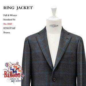 RINGJACKET(リングヂャケット)ModelNo-184FBALLOON3Bバルーンジャケット【ブラウン】