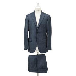 【アウトレット予定】RINGJACKETリングヂャケットModelNo-184AHS-172HLORO-PIANAロロピアーナ3Bスーツ【ブルー】