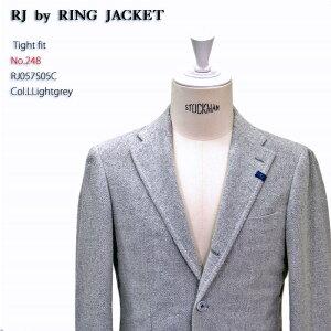 アウトレット予定商品RINGJACKET(リングヂャケット)ModelNo-248SOLBIATI3Bジャケット【ライトグレー】