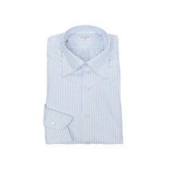 RINGJACKETNapoli【リングヂャケットナポリ】Shirts【シャツ】ボタンダウンカラー【ストライプ/サックスブルー】