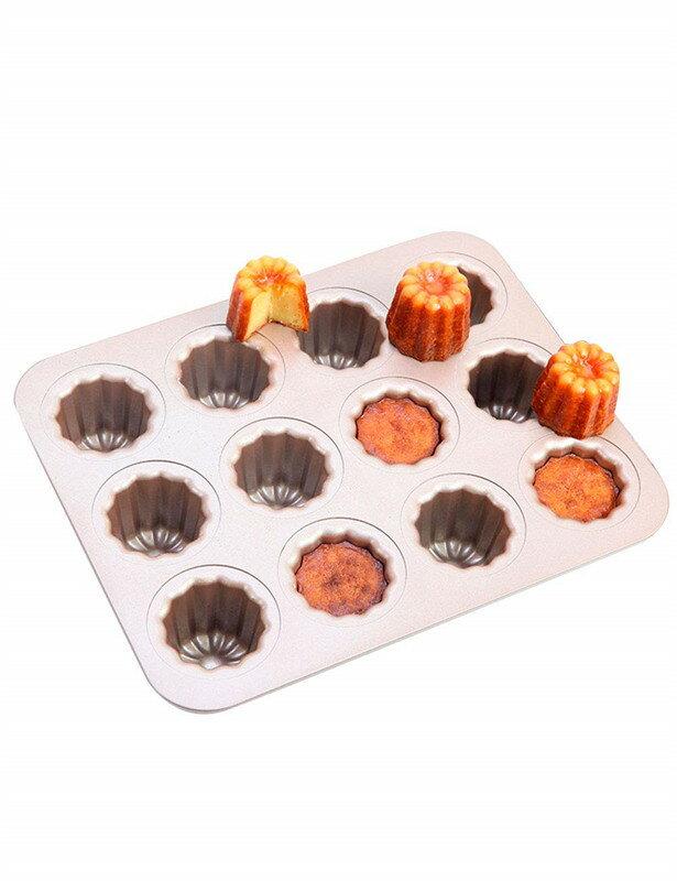 カヌレ型 12個付 粘りにくいケーキ型