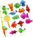 魚釣り おもちゃ 釣りゲーム 水遊び お風呂 プール 子供 幼児 玩具 魚釣りゲーム 22個