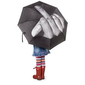 雨の日は空に向かってFUCK!!【art lebedev】 ファック ザ レイン アンブレラ 折り畳み傘