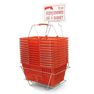 US ショッピング バスケット スタッキング式 買い物カゴ 12点セット