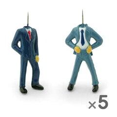 スーツにネクタイ姿の男性、頭の先端が画鋲 10本セット【nuop】 ピンヘッド プッシュピン PINHE...