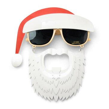 【85%オフ SALE!!】サンタクロース サングラス 仮装ヒゲ帽子付き