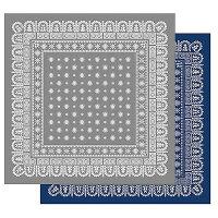 フラワーバンダナラグマット2m×2mサイズLL