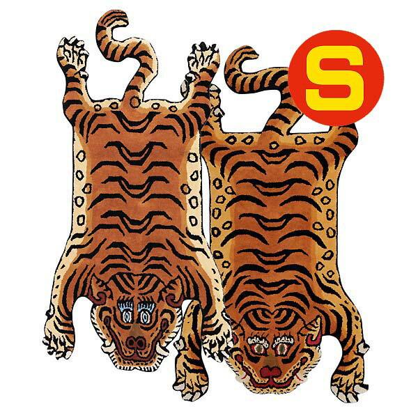 チベタン タイガー ラグ マット S 虎型 絨毯 100cm