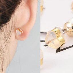ハート シリコンキャッチ ピアスキャッチ 樹脂 ゴム ハートマーク 1ペア 両耳 手作りパーツ 送料無料