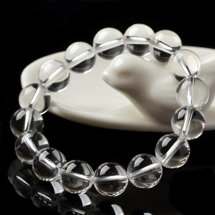 定番!天然水晶8mm お守り 開運!パワーストーンブレスレット 数珠 透明石 ギフト プレゼント4月誕生石