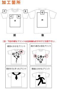オリジナルTシャツプリント位置