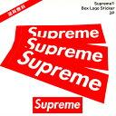 【国内正規品】【送料無料】Supreme(シュプリーム)Supreme シュプリーム Box Logo Sticker ボックスロゴ ステッカー 3P 3枚セット 国内正規品Supreme 2019【中古】【新古品 未使用品】
