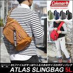 コールマンColemanアトラススリングバッグ(5L)[全6色]ATLASSLINGBAGユニセックス(男女兼用)【鞄】_11702E(ripe)