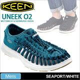 ・キーンKEENユニークO2UNEEKオープンエアースニーカー[シーポート/ホワイト](1017052)メンズ(男性用)【靴】_11704E(ripe)