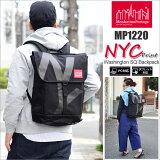 マンハッタンポーテージManhattanPortageNYCプリントワシントンスクエアバックパック[ブラック](MP1220NYC17SS)NYCPrintWashingtonSQBackpackユニセックス(男女兼用)【鞄】_11703E(ripe)