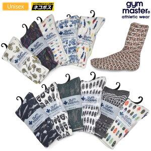 【正規取扱店】ジムマスター gym master 靴下 メンズ レディース ハッピーペイントクルーソックス 23-25cm 25-27cm G857329S 20FW 2010ripe[M便 1/2]