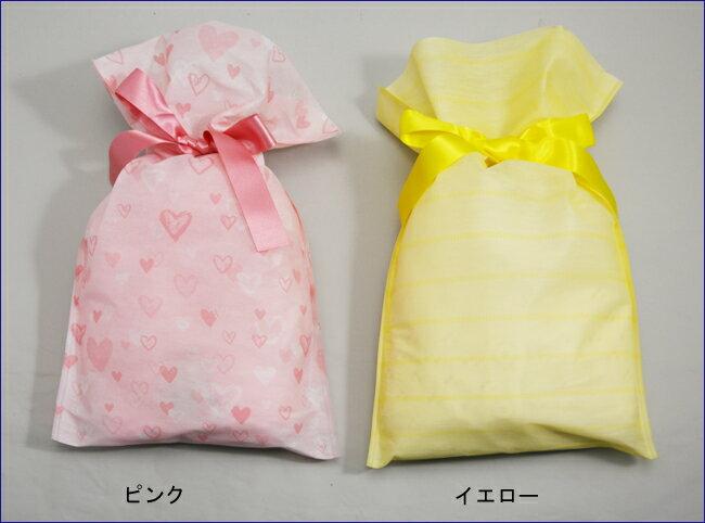 ラッピングピンク及びイエローの2種類をご用意しています。