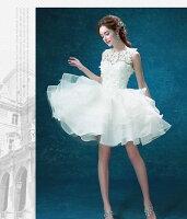 ウェディングドレス結婚式披露宴二次会/パーティードレス/ビスチェウエディングドレス/マタニティウエディングドレス♪DORESU-2122