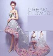 ウェディング フラワー プリンセス パーティー ビスチェウエディングドレス マタニティウエディングドレス
