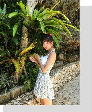 新作 水着 mizugi18-115 ワンピース 水着 花びら オシャレ 体型カーバー 海外旅行