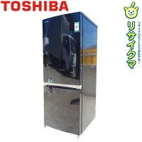 【中古】O▼東芝冷蔵庫153L2018年2ドア人気色ブラック耐熱性能天板GR-M15BS(18155)