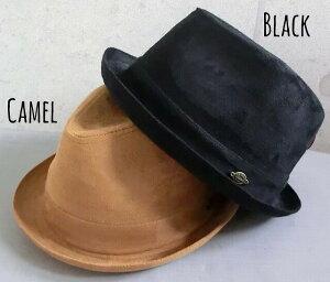 5586131■2a9w2 帽子 2color スエード マニッシュハット 中折れ ハット チャーム メンズ レディース 男女兼用 秋 冬 サイズ調整