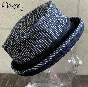 店長いちおし メンズ レディース 帽子 HATENA ヒッコリー デニム ポークパイハット オールシーズン BIGサイズ 大きいサイズ あり
