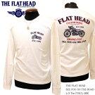 送料無料THEFLATHEAD(ザ・フラットヘッド)SEEYOUONTHEROAD長袖Tシャツ黒/白THCL-208【メンズ/アメカジ/フラヘ/バイカー/日本製】