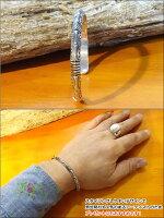 インディアンジュエリーナバホ族GENEVARAMONEジェネバ・ラモーン氏作シルバー925トライアングルバングル【メンズ/インディアンジュエリー/Navajo/装飾/Silver925/バングル/送料無料】