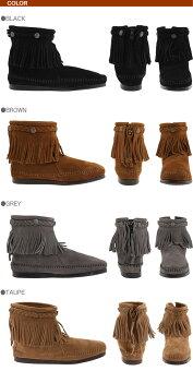 2013秋冬モデルMINNETONKAミネトンカHITOPBACKZIPPERBOOTアンクル丈ブーツmi15