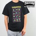 【クーポンで最大1000円OFF】^ スラッシャー メンズ 半袖 Tシャツ THRASHER Black Light T-shirt【USAモデル】thrasher105 (単品購入に限りメール便発送)^