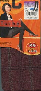特価品【グンゼ】Tuche 発熱タイツ:レーヨン混・チェック柄・250デニール相当