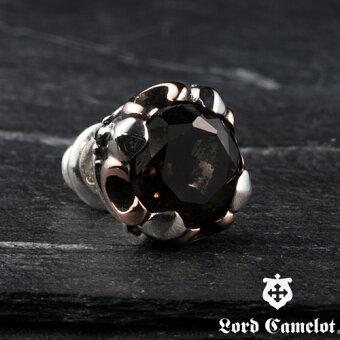 [LordCamelotロードキャメロット]シルバーシングルピアススモーキークォーツLC528SMQ