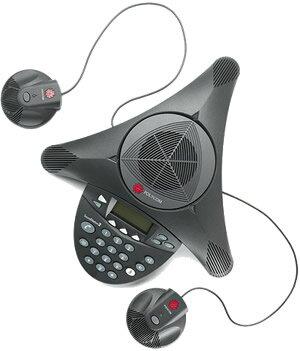 デモ機特価! 【税込!送料込!】世界シェアNo.1 Polycom SoundStation 2 EX 拡張マイク対応モデル 会議システム:RISO-SYA