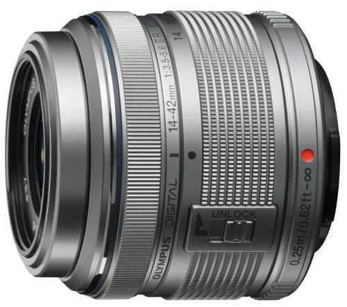 新品 OLYMPUS 標準ズームレンズ M.ZUIKO DIGITAL 14-42mm F3.5-5.6 II R シルバー