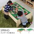 Spring プレイテーブル 幅120cm 【ノベルティ対象外】 /プレイテーブル/幅120/ブロック/ミニカー/パズル/おままごと/収納/子ども/子供/木製/